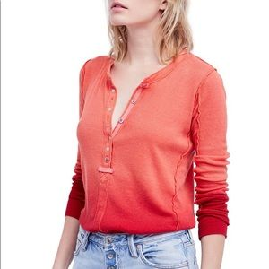 NWT We the free People cozy up ombré  Henley c